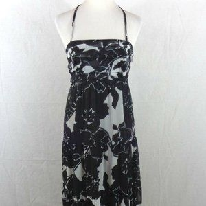 THE LIMITED WOMENS TIERED MAXI DRESS SIZE 4 BLACK